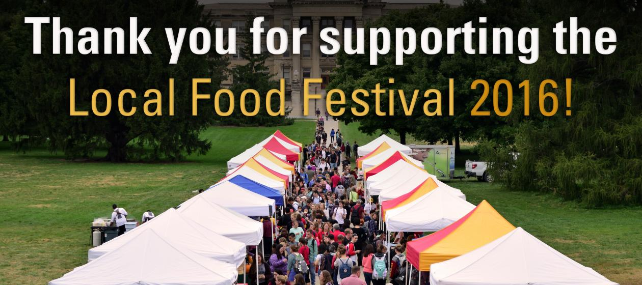 Thank You for Supporting the Local Food Festival 2016